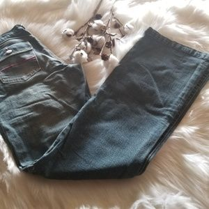 Super Cute Vigoss Jeans with hot pink stitching